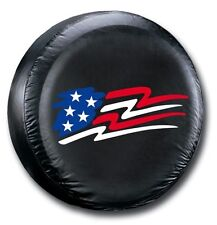 "Universal Black American Flag Spare Tire Cover Wheel 27"" - 31"" New Free Shipping"