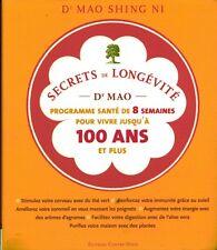 Livre secrets de longévité Dr Mao programme de 8 semaines  book