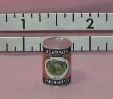 Dollhouse Miniature Sauerkraut Can Vintage Label   Hudson River 1:12 Scale
