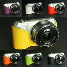 Handmade Real Half Leather Case Camera Case Camera bag for Sony NEX C3 7 colors