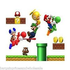 Super Mario Wall Sticker Great For Kids Room Great For Boys Room Or Nursery