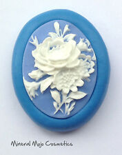 New Vintage Rose Cameo Silicone Mould - Cupcake Card Toppers, Fimo, Sugarcraft