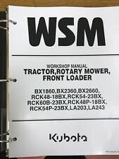 Kubota BX1860, BX2360, BX2660 Tractor Workshop Service Manual