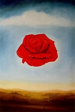 "Replica Abstract Oil Painting - Red Flowers - size 24""x36 """