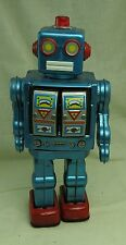 Vintage Horikawa Blue Star Strider Tin Space Moving Battery Operated Robot