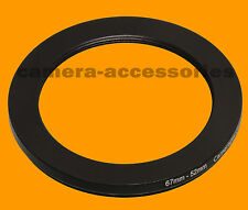 67mm to 52mm 67-52 Stepping Step Down Filter Ring Adapter 67-52mm 67mm-52mm