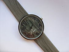Very Unusual Smart Wood Effect Quartz Watch