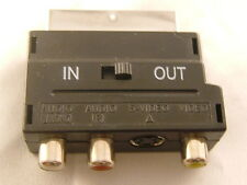 Scart Adaptor 3 RCA Phono SVIDEO SVHS AV Adaptor UK