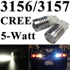 2pcs 3156/3157 T25 CREE Q3 High Power 5W LED Back Up Reverse Lights Bright White