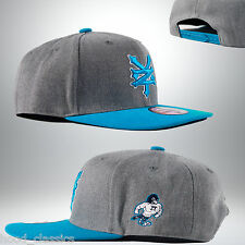 New Zoo York Adjustable Gray Blue Strapback Street Wear Baseball Cap HipHop Hat
