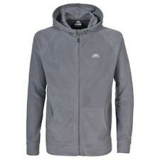 Trespass Fleece Gunbarrel Full Zip Hooded Microfleece Small S Warm Grey Sale