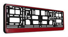 red number plate surround frame holder
