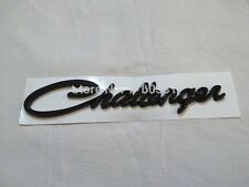 NEW Black Challenger Emblems badge Decal Nameplate for Dodge Chrysler RT Fenders