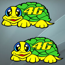 2 Stickers Auto Moto Bike Valentino Rossi The Doctor 46 Turtle GP Yamaha Helmet