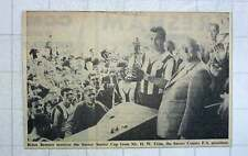 1960 Brian Bennett Receives Surrey Senior Cup , Hw Trim Surrey County