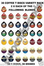 38 Tassimo T Discs Coffee Only Variety Taster, Starter Pack Pods, 2 x Each Blend