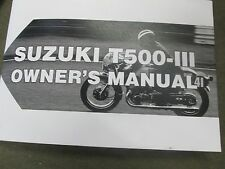 Suzuki T500 owners manual 1970
