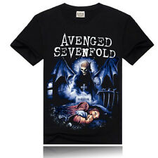 Size L ' FOREVER' Nightmare Men's T-Shirt Avenged Sevenfold Rock&Roll Cool Black