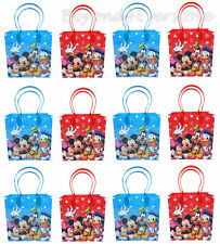 New Disney Mickey & Friends Birthday Party Favors Goodie Bag 12pc Gift Set Bags