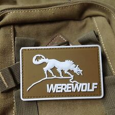 METAL GEAR SOLID PRIVATE MILITARY GLOW WEREWOLF AIRSOFT PVC RUBBER PATCH