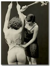 Naughty Nudes French Fetish Erotic Risque Sex Vintage REPRO Postcard