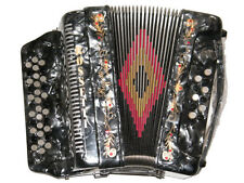ROSSETTI  ACCORDION 34 BUTTON 3 SWITCH  FBE  12 BASS SOL ACCORDION GRAY GRIS