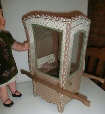 """RARE  French  DOLL CARRIER /SEDAN CHAIR FANTASTIC  DISPLAY  FOR  DOLL.S  14  """""""