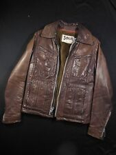 Vtg. Schott Leather Motorcycle Jacket  sz 10 (Extra Small) See Measurements Kids