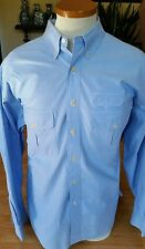 Orvis Outdoor Shirt Size L 100% cotton Light Blue