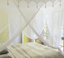 King Size Cotton Mosquito Net Bed Canopy with DecorativeTop 100% Quality Cotton
