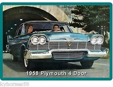 1958 Plymouth 4 Door Convertible Auto Car  Refrigerator / Tool Box  Magnet