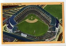 YANKEES STADIUM NEW YORK CITY VINTAGE TEXTURED BASEBALL POSTCARD