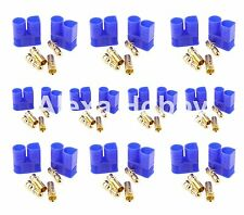 10 PAIR Male & Female RC EC3 Lipo Battery Connector Gold Bullet Plug - EC3x10
