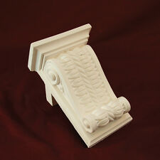 Corbel X2- Traditional Plaster. Medium Rope & Scroll. 210mm High