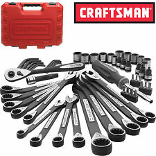 New Craftsman 56 Piece pc Universal Mechanics Tool Set Socket Wrench Garage Auto