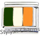 IRELAND IRISH FLAG Enamel Italian Charm 9mm - 1 x PE017 Single Bracelet Link