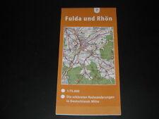 Fahrradkarte Tourenkarte Radwanderungen Deutschland Mitte: Fulda und Rhön