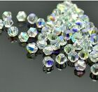 300pcs clear ab exquisite Glass Crystal 4mm #5301 Bicone Beads loose beads .@1
