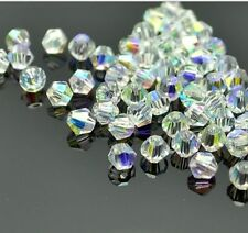 500pcs clear ab exquisite Glass Crystal 4mm #5301 Bicone Beads loose beads .