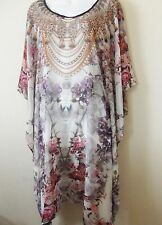 Designer kaftans Tunics sheer light Georgette for Women size small