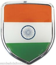 India Flag 3D Chrome Emblem Badge Logo Sticker