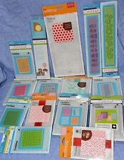 Cuttlebug Lot 15 packs/items: Embossing Folders(23 folders) + Crown Rosette KIt