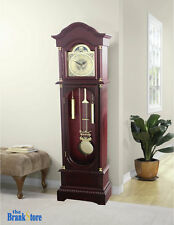 Vintage Grandfather Clock Floor Pendulum Chimes Traditional Home Decor Wood