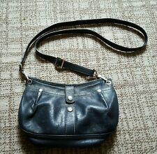 Auth Longchamp Genuine Leather Clutch Cross Body Shoulder Bag