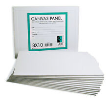 12 PACK 8 x10 Canvas Panels Blank Cotton Stretched Mounted Artist Art Painting