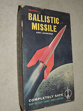 Vintage 1950's Alpha-1 Model Rocket Ballistic Missile Scientific Products & Box