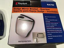 RA702 DODGE MIRROR BRACKET, RH OR LH, ABS CHROME MIRROR, SWING-AWAY DESIGN