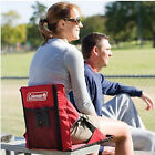 Coleman Stadium Seat Folding Beach Seat Chair Picnic Concert Ground - Red
