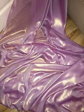 """1 MTR PINKY LILAC/GOLD SHIMMER CHIFFON FABRIC...60"""" WIDE"""