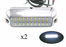 "Pactrade Marine 2 Boat Pontoon  S.S.316 White 27 LED Underwater Light 3 3/4"" L"